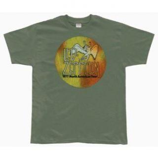 Led Zeppelin   US 77 Logo Soft T Shirt Clothing