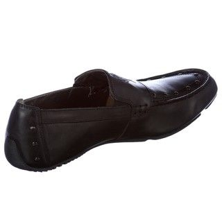 Skechers Backstage Mens Maintain Black Leather Loafers