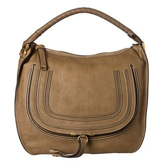 Chloe Marcie Large Nut Leather Hobo Bag