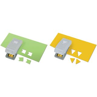 Slim Mini Paper Punches 2/Pkg Pennants