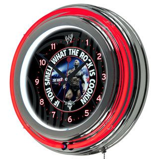 Officially Licensed WWE 14 inch Neon Clock