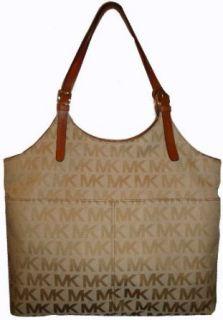 Michael Kors Purse Handbag Large Tote Jacquard Beige/Camel
