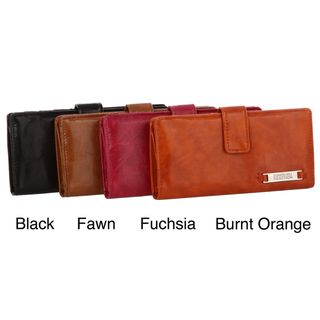 Kenneth Cole Reaction Slim Chance Glazed Tab Clutch Wallet