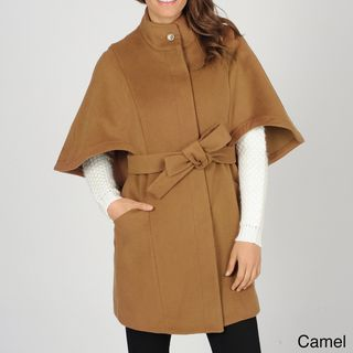 Hilary Radley Womens Belted Single Breasted Cape