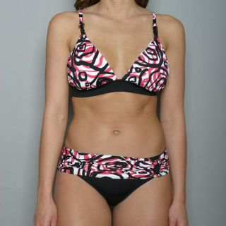 Anne Cole Womens Swirl Print 2 piece Bikini Swimsuit