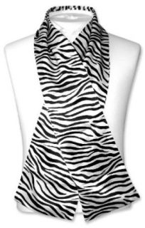 ZEBRA Skin Print SILK NECK SCARF for Men or Women NEW