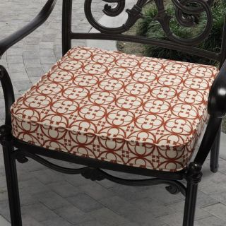 Ava Terre Red Outdoor Cushion with Covington Fabric