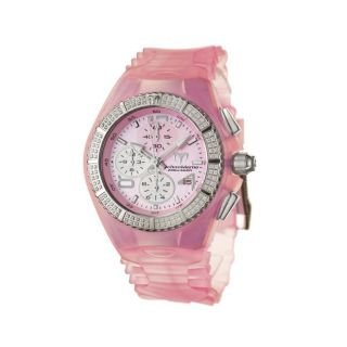TechnoMarine Womens Cruise Original Pink Silicon and Steel Watch