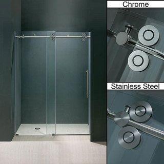 Vigo   Puerta deslizable para ducha, sin marco, vidrio transparente