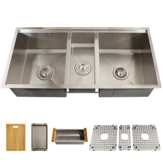 Ticor Royal Stainless Steel 16 gauge Triple Bowl Undermount Kitchen