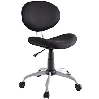 Comfort Groove Swivel Black Mesh Task Chair