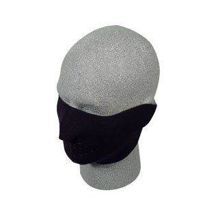 Neoprene Half Face Masks Black W11S25D Clothing