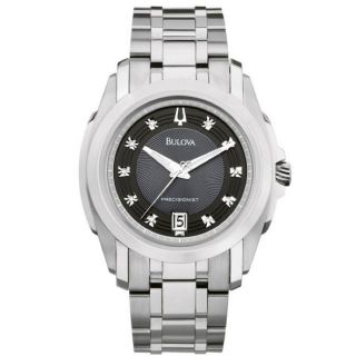 Bulova Precisionist Mens Longwood Diamond Dial Bracelet Watch