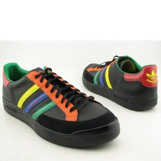 Adidas Mens Nastase Leather Casual Shoe Black, Multicolour Shoes
