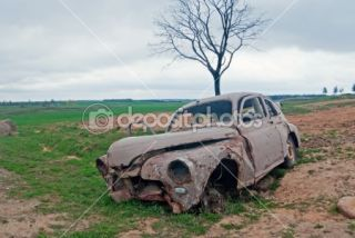 Abandoned car  Foto Stock © Vasily Firsov #6386792