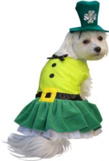 Leprechaun Girl Dog Halloween Costume (X Small): Clothing