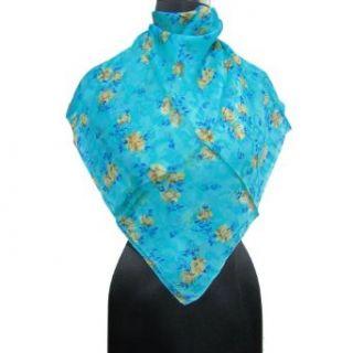IBA 100% Pure Silk Scarf Neck Tie Lady Scarves Hijab Blue