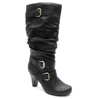Blue Womens Davida Black Mid calf Boots