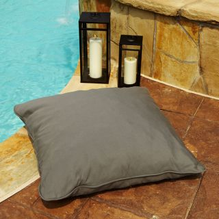 Clara Grey 28 inch Square Outdoor Sunbrella Floor Pillow
