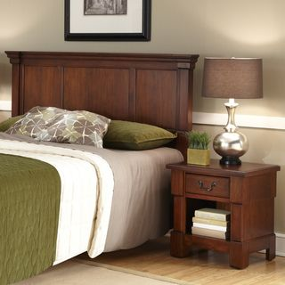 The Aspen Collection Rustic Cherry Queen/Full Headboard & Night Stand
