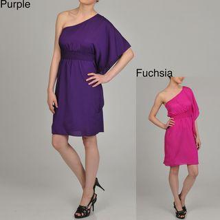 AnnaLee + Hope Womens One shoulder Dress