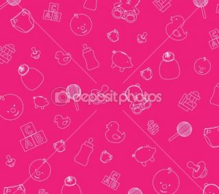 Pink baby wallpaper  Foto stock © Jo Ingate #2279061