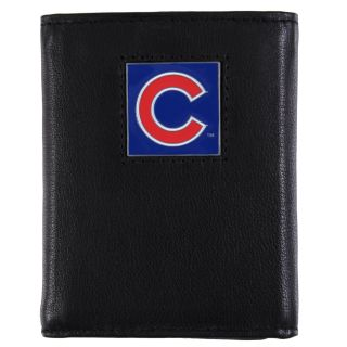 Chicago Cubs Mens MLB Genuine Leather Tri fold Wallet