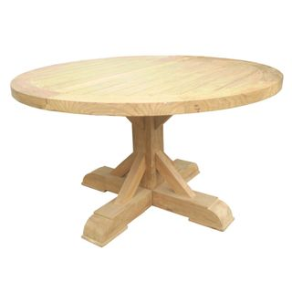 Xena Outdoor Reclaimed Teak Round Dining Table
