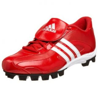 adidas Mens Phenom MD II Low Baseball Cleat,Red/White