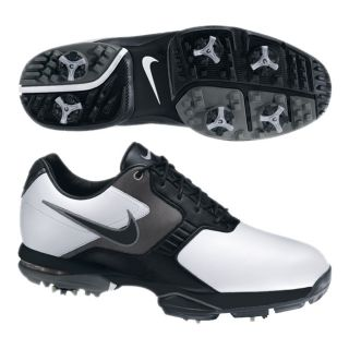 Nike Mens Air Academy II White/ Black/ Pewter Golf Shoes (Blem