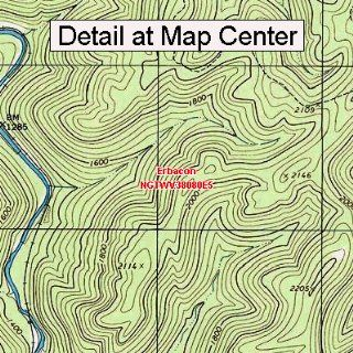 USGS Topographic Quadrangle Map   Erbacon, West Virginia