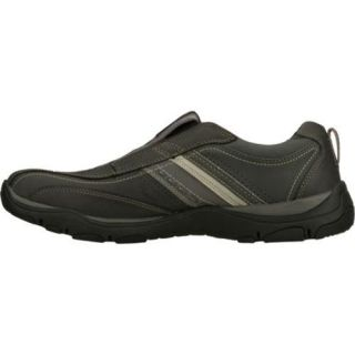 Mens Skechers Relaxed Fit Artifact Excavate Black/Gray