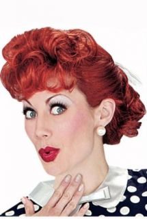 I Love Lucy Adult Wig   One Size: Clothing