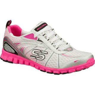 Womens Skechers EZ Flex Barbed Wire White/Pink