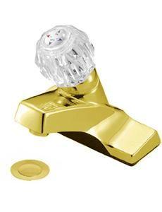 Polished Brass Crystal Handle Bathroom Sink Faucet
