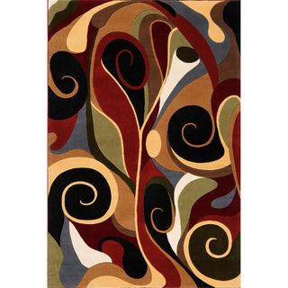 Graffiti Multi Wool Area Rug (53 x 79)