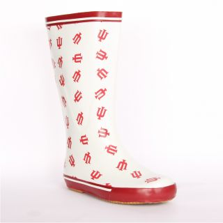 Indiana Hoosiers Womens Scattered Logo Rain Boots