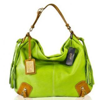 Guias Italian Designer Pistachio Green Leather Zippers