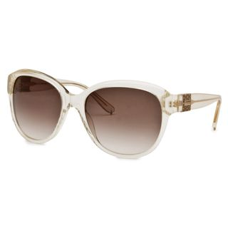 Chloe Womens Light Transparent Gold Striped Fashion Sunglasses