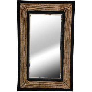 Banana Leaf 31 inch Woven Rectangular Mirror (China)
