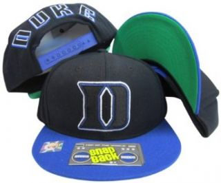 Duke Blue Devils Black/Blue Two Tone Plastic Snapback
