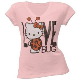 Hello Kitty   Love Bug Juniors V Neck T Shirt   Small
