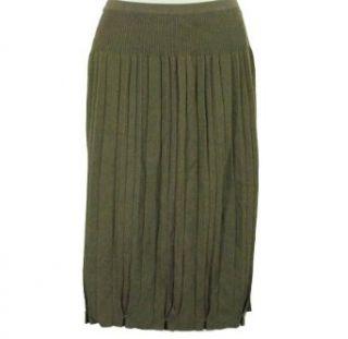 Jones New York Pleated Sweater Skirt Amaretto M Clothing