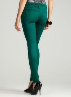 Tinseltown Color Skinny Jean In Emerald
