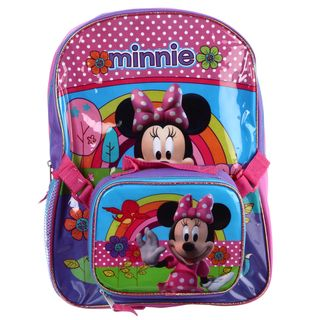 Disney Minnie Mouse 16 inch Backpack with Lunch Bag