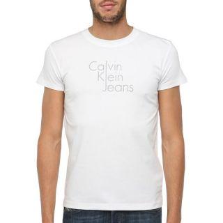CALVIN KLEIN JEANS T Shirt Homme Blanc   Achat / Vente T SHIRT CKJ T