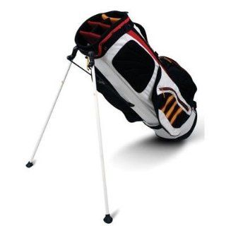 adidas Golf Clutch Stand Bag (Black/White/Red/Sport Gold