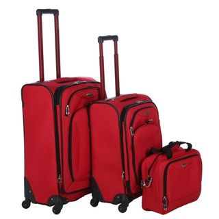Samsonite Chesapeake Red 3 piece Spinner Luggage Set