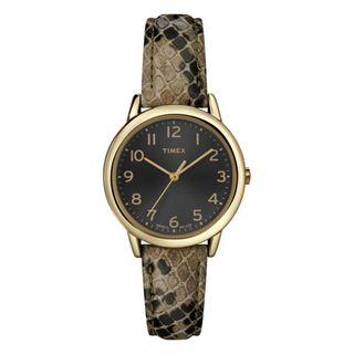 Timex Womens T2N965 Elevated Classics Dress Animal Prints Watch