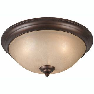 Triarch International LaCosta 3 light English Bronze Flush Mount
